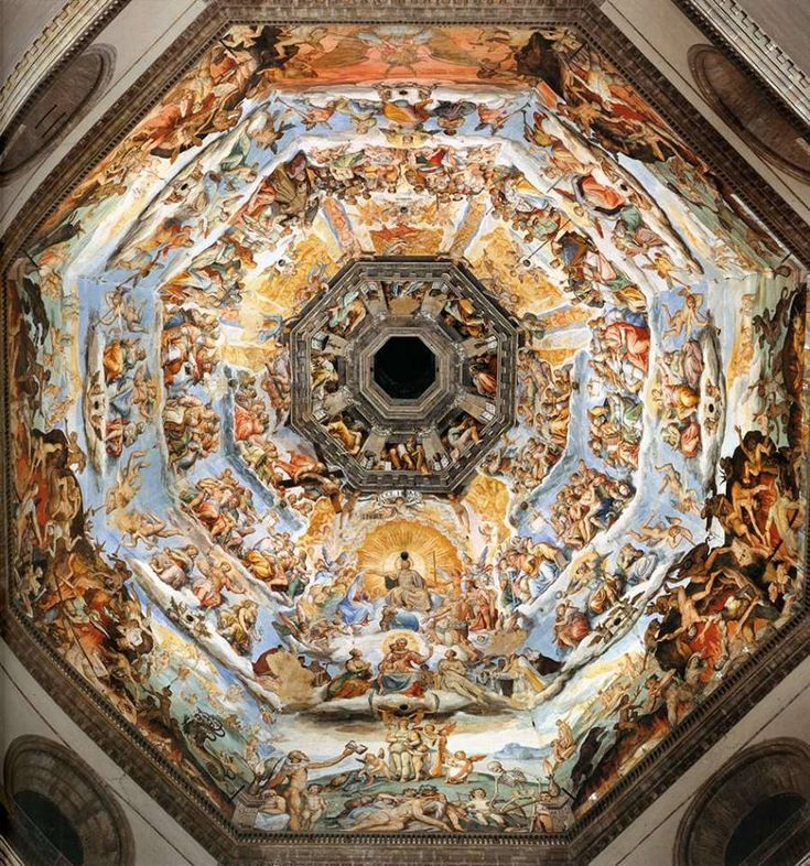 The Last Judgment under Brunelleschi's Dome inside the Florence Cathedral.