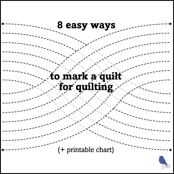 8 easy ways to mark a quilt for quilting