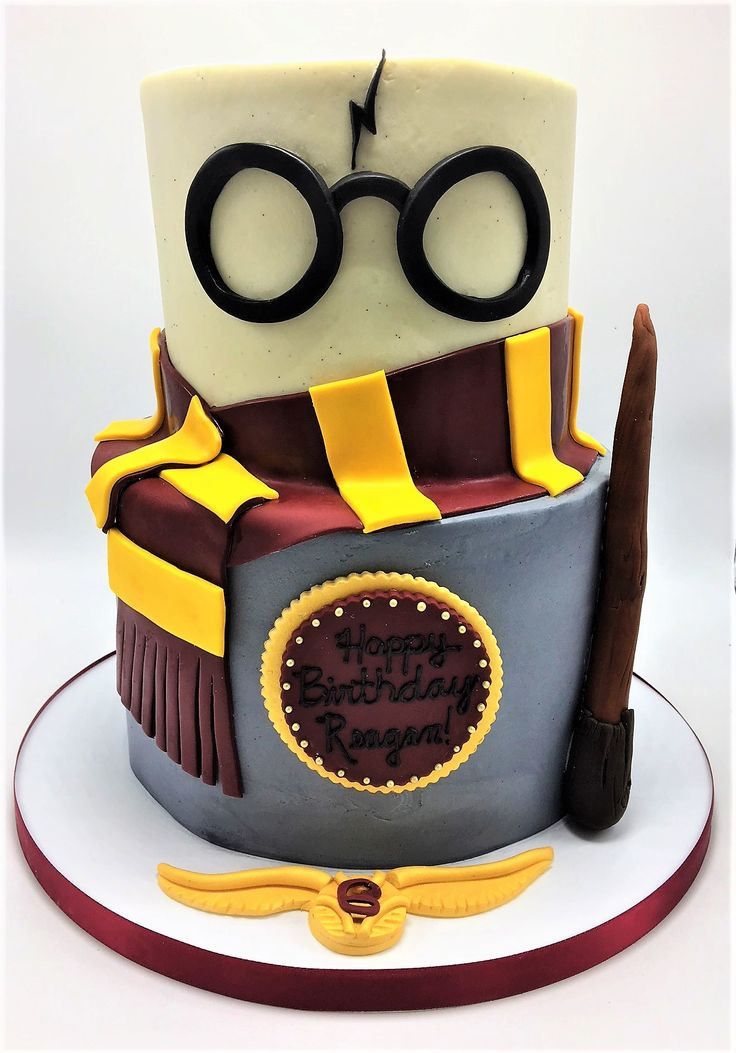 2tier Harry Potter themed girl's birthday cake by Flavor