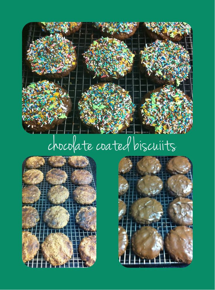 Chocolate coated biscuits!