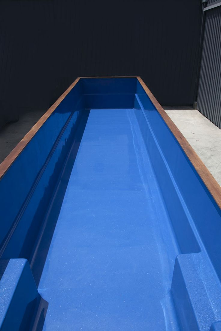 blue shipping container pool