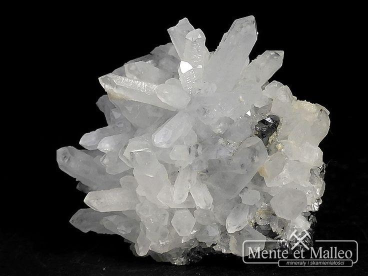 Kryształ górski, galena, sfaleryt - Bułgaria 5,8x5,7 mm
