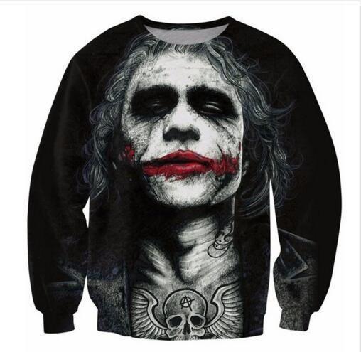 Inked Joker Sweatshirt Badass Tattooed Joker Dark Knight 3d Sweats Women Men Batman DC Comics Superhero Hoodies Outfits Tops