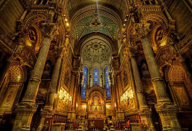 Notre Dame, Our Mother Basilique Notre Dame de Fourvière, Lyon, France