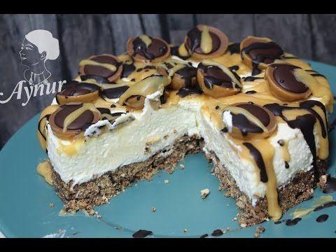 Toffifee Torte Rezept ohne Gelatine und ohne backen- Toffifee cikolatali yas pasta tarifi - YouTube