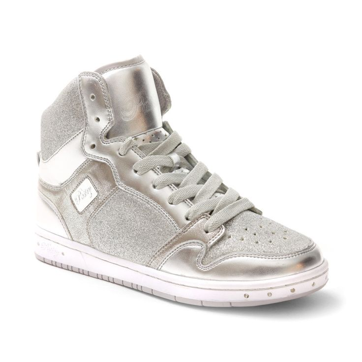 Glam Pie Glitter Sneakers in Silver