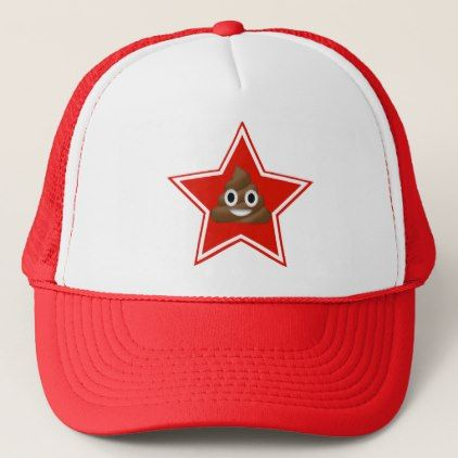 Star Emoji Poo Trucker Hat - red gifts color style cyo diy personalize unique