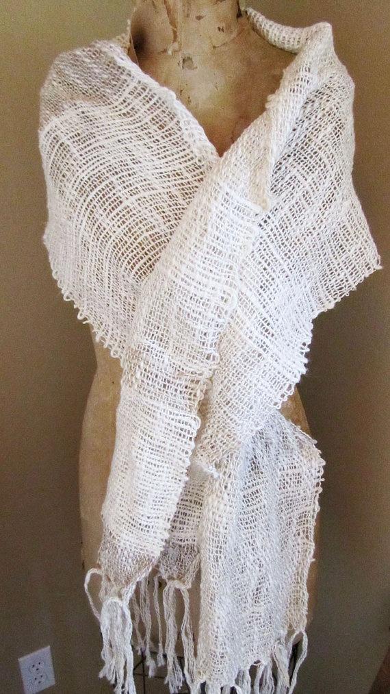 Beachy white weave
