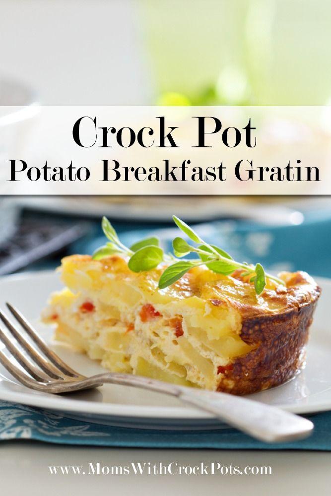Perfect for brunch! Crock Pot Potato Breakfast Gratin #recipe