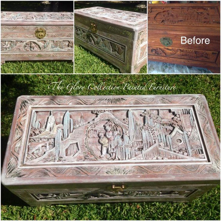 This dusty old Chinese #trunk got a make over to show all its beautiful carvings.