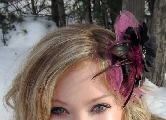 bloomer  Nostalgic Mixed Media Fascinator in by SHOWYOURbloomers, $30.00