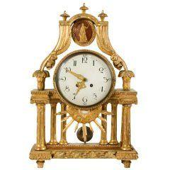 Gustavian Table Clock