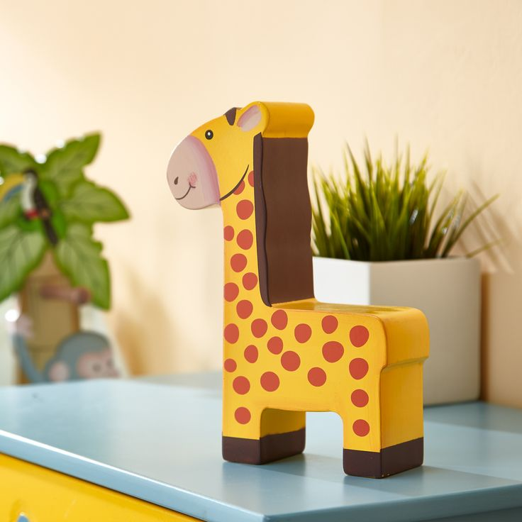 Say goodbye to whimsical spending and make your babys bank account magically grow with the Giraffe Money Bank! A practical gift includes the valuable lesson of