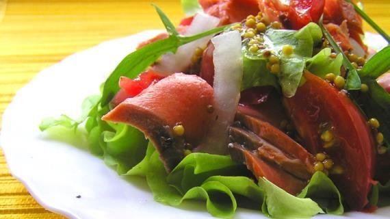 Теплый салат из лосося с медово-горчичной заправкой. Пошаговый рецепт с фото, удобный поиск рецептов на Gastronom.ru