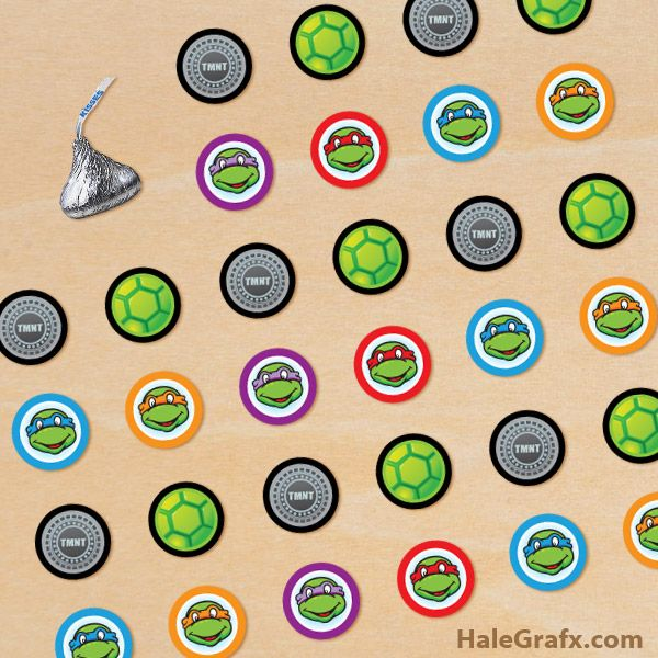 free hershey kisses labels template - 1000 images about ninja turtle printables on pinterest