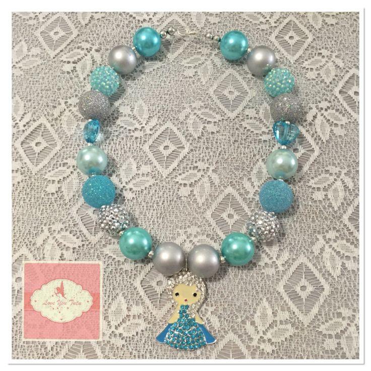 Frozen inspired bubble gum beads