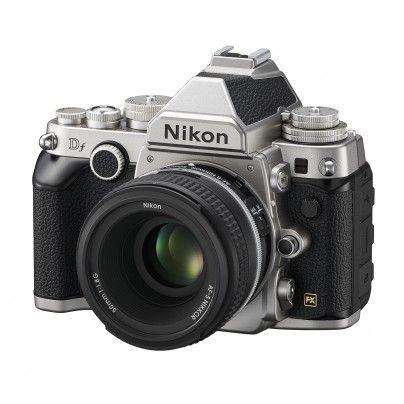 NIKON Df Silver + NIKKOR AF-S 50mm f/1.8G Special Edition. Full frame with retro design.