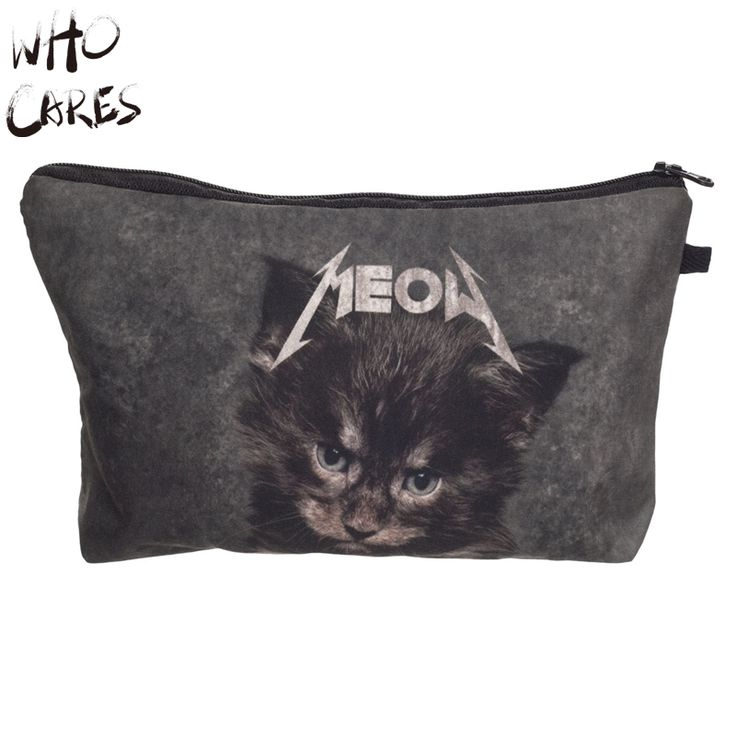 Who Cares Meow Cat 3D Printing Travel Women Maleta De Maquiagem Make Up Bag Party Cosmetics Bags Organizer Necessaire Makeup Bag #clothing,#shoes,#jewelry,#women,#men,#hats,#watches,#belts,#fashion,#style