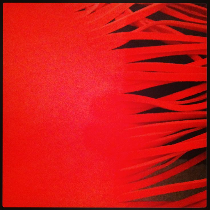 Sneak peek at our sexy new red leather fringe bag colour in the making! LR. x