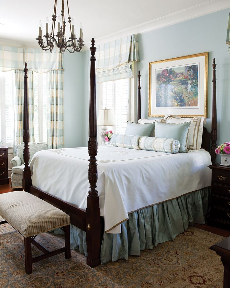 dreamy southern bedrooms - Blue Master Bedroom Decorating Ideas