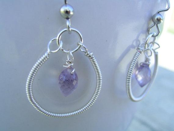 Jewelry Amethyst Briolette Earrings Purple by KottageKreations, $16.00: Kottag Kreation, Briolett Earrings, Cute Earrings, Earrings Ideas, Dangle Earrings, Amethysts Briolett, Earrings Purple, Jewelry Ideas, Jewelry Amethysts