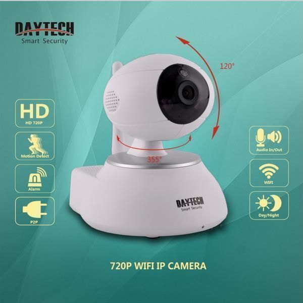 DAYTECH DT-C8818 IP Camera 720P Night Vision Audio Recording Security System P2P Wi-fi Network H.264 CMOS Monitor  Description : Daytech IP Wifi Camera 720P Night Vision Audio Recording Security Camera Wireless P2P Wi-fi Camera H.264 Wifi Monitor . Features : 1:Two-way audio enables remote commucation with your family friends and real-timel streaming High definition 720P view. 2:Easy Installation download APP from Google play or APP store connect with network this Home security Camera works…