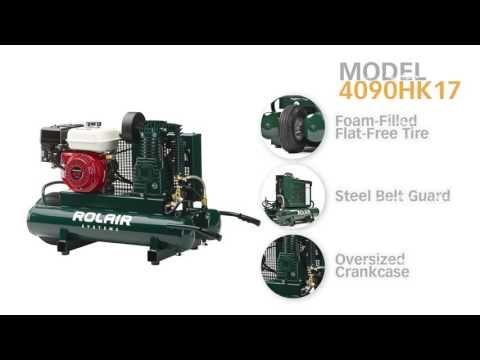 Rolair 4090HK17, 5.5 HP, 9 Gallon, Belt Drive Gas-Powered Air Compressor