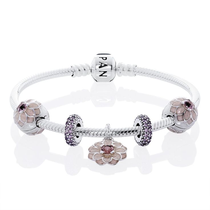 How To Clean Pandora Bracelet And Charms: Pandora Blooming Dahlia Complete Bracelet CB558