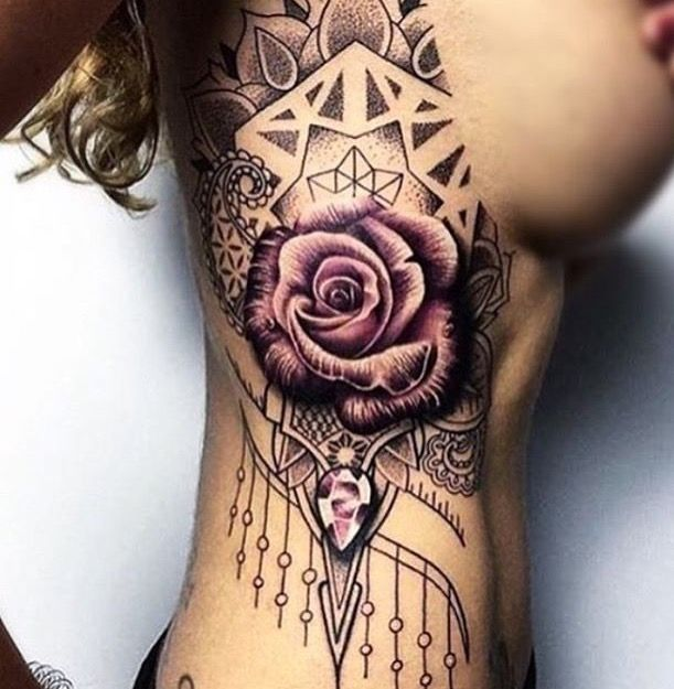 Combines everything I love - flowers, geometric, dainty, shading