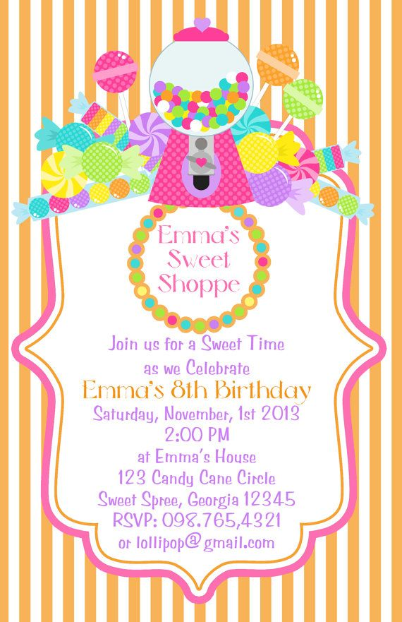 Best 25+ Candy land invitations ideas on Pinterest | Candy ...