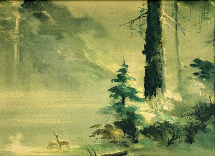 Rare Gorgeous 1940s Tyrus Wong Watercolor Print #Disney Artist For Bambi Movie from $49.99