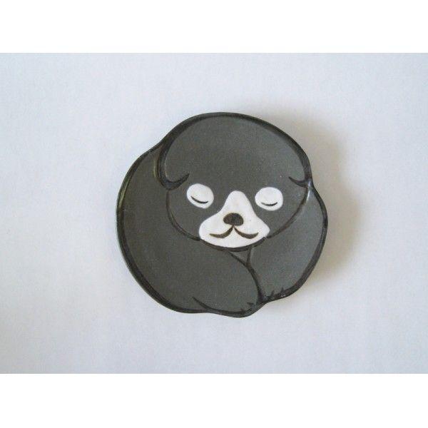 仔犬豆皿 (黒) | みやびの器 六兵衛窯 株式会社キヨロク 【老舗モール】