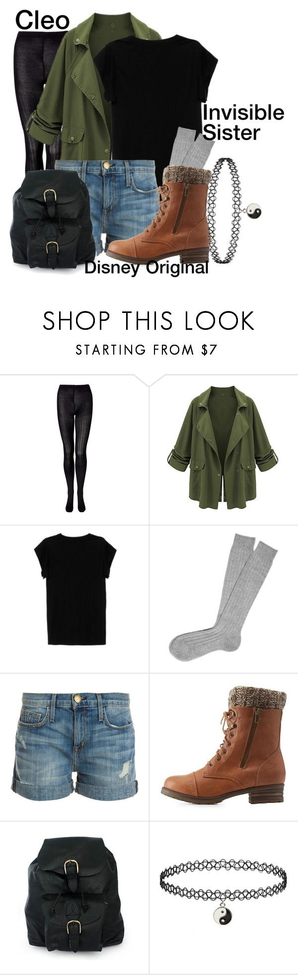 Cleo ~Invisible Sister~ Disney Original by drake-max on Polyvore featuring Isabel Marant, Current/Elliott, Charlotte Russe and NOVICA