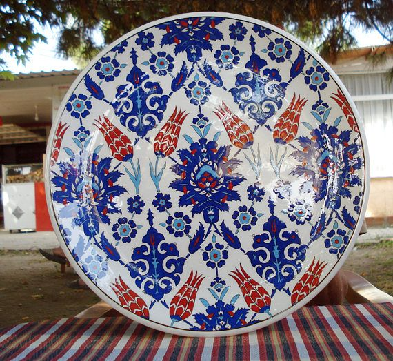 Iznik Tile Decorative Tile Turkish ottoman handmade rustem