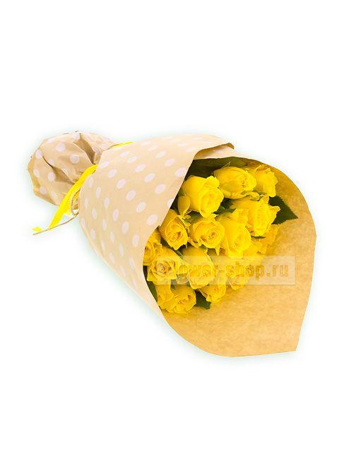 Букет из 19 желтых роз Акуна Матата