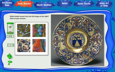 Getty Games - Art Games for Kids- free technology for teachers