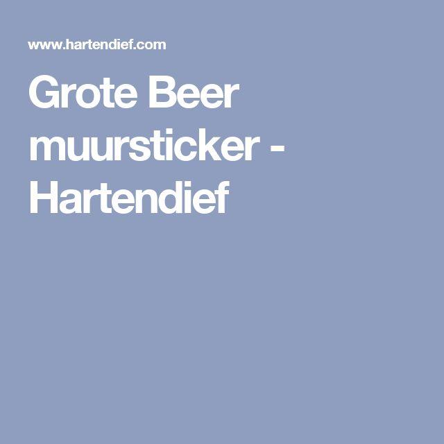 Grote Beer muursticker - Hartendief