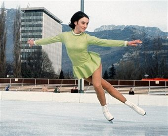 An Illustrated History of Figure Skating Clothes: 1968 Olympic Figure Skating Champion Peggy Fleming Wore a Simple Green Dress
