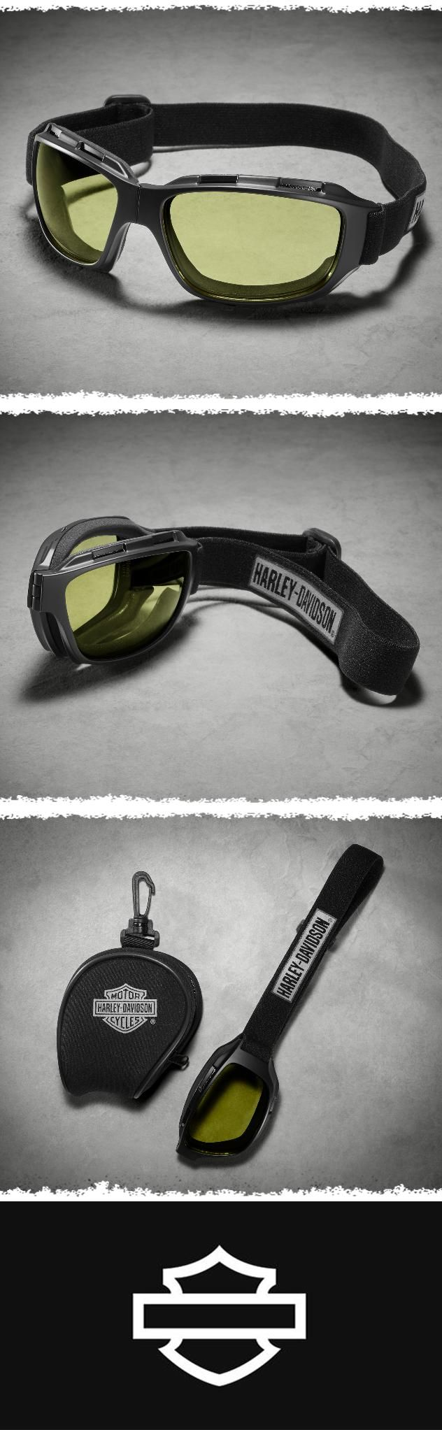 Top off your ride with H-D Performance eyewear. | Harley-Davidson Bend Performance Goggles - Yellow