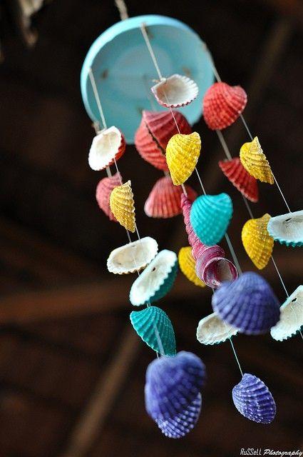 Seashell craft ideas Seashell Wind Chime