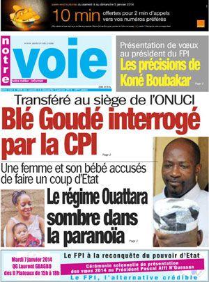 L'ONUCI dément catégoriquement la présence de Charles Blé Goudé ou de tout autre détenu à son siège Abidjan, le 4 janvier 2014…L'Opération des Nations Unies en Côte d'Ivoire (ONUCI) constate avec
