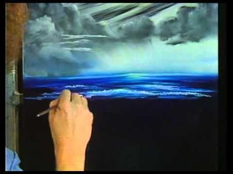 Боб Росс - Учимся рисовать темный и светлый вид на море (2 сезон) - YouTube
