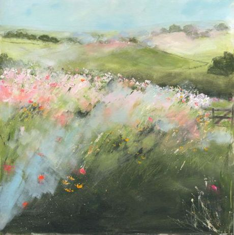 Sue Fenlon Wild flower pathway: Art Watercolor, Art Crafts, Amazing Art, Art Gardens, Art Landscape, Diy Paintings, Art Attack, Flowers Pathways, Wild Flowers