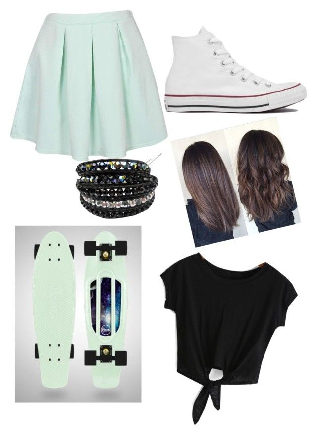 """Penny Boarding"" by cesilou ❤ liked on Polyvore featuring Converse and Chan Luu"