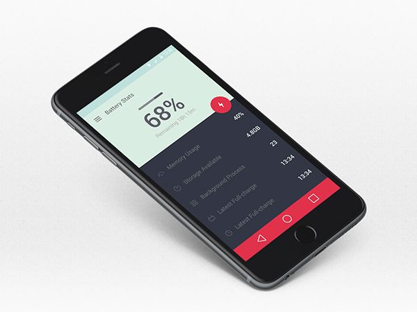 Battery Status UI design on Behance
