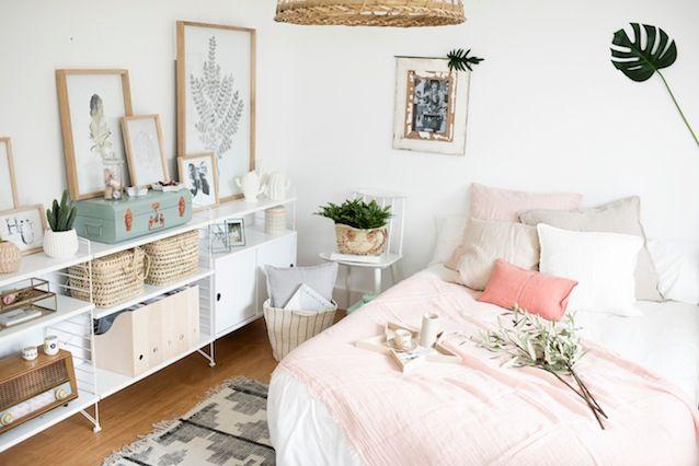 Un dormitorio con encanto y en tonos empolvados by deco - Dormitorio con encanto ...