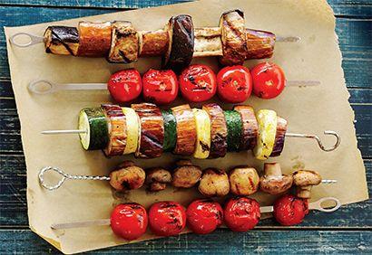 Brochettes de légumes grillés #barbecue #recette