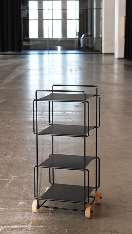 Hanko trolley in black. Design by Helena Mattila. Made in Finland.
