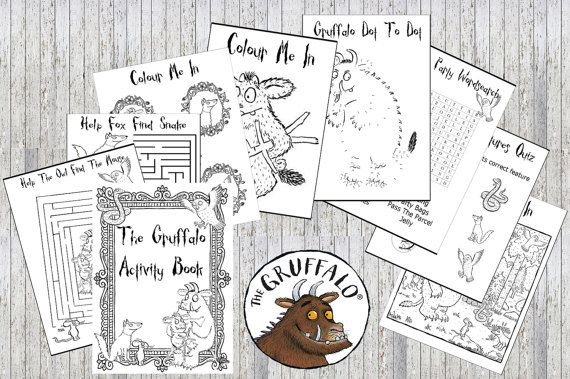 The Gruffalo Printable Puzzle Quiz Colouring Book Ideal Etsy Coloring Books Printable Puzzles Puzzle Books