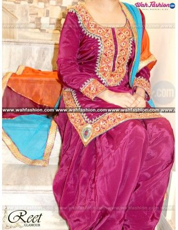 Give yourself a stylish & punjabi look with this Tempting Purple Heavy Embroidered Punjabi Suit. Embellished with Heavy Embroidery and lace work. Available with matching bottom & dupatta. The embroidery work on both front and back side of the suit makes it remarkable. It will make you noticable in special gathering. You can design this suit in any color combination or on any fabric for that whatsapp us. For more details Whatsapp us on +919915178418
